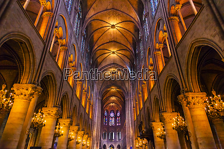interior gothic stained glass notre dame