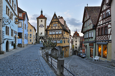 germany rothenburg ob der tauber ploenlein