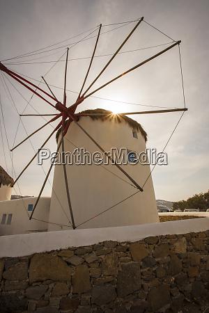 the famous wind mills mykonos greece
