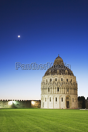 italy pisa the historic baptistery with