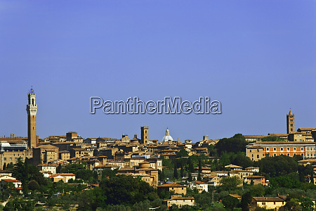 italy siena overview of city