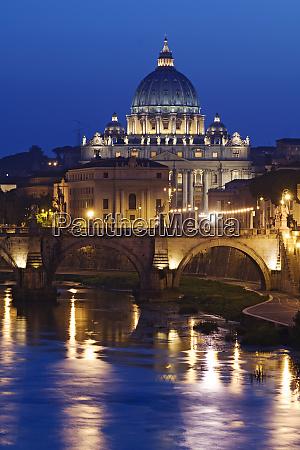 italy rome st peters basilica tiber