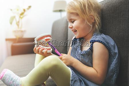 child dental health little girl