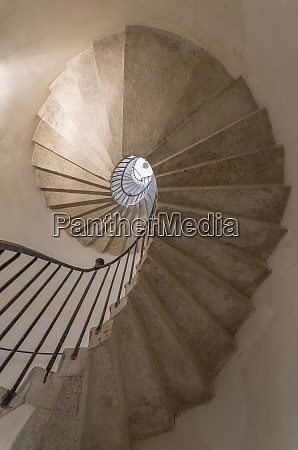 europe italy venice spiral stairwell