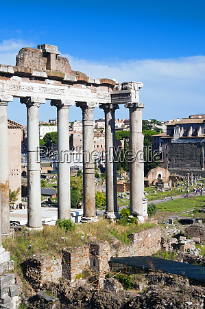 roman forum with the temple of