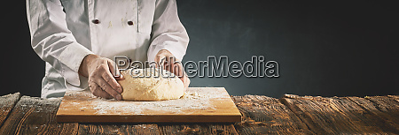 chef or baker preparing a mound