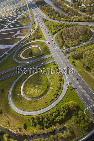 near amsterdam netherlands aerial view of