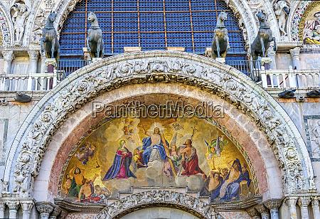 christ resurrection mosaic ancient horses st
