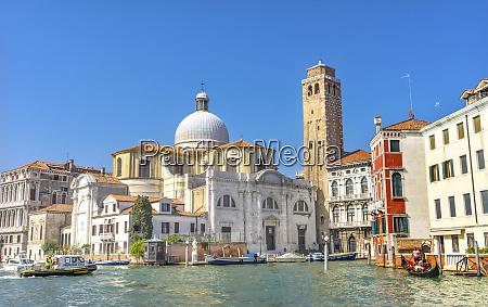 grand canal santa stefano church basilica