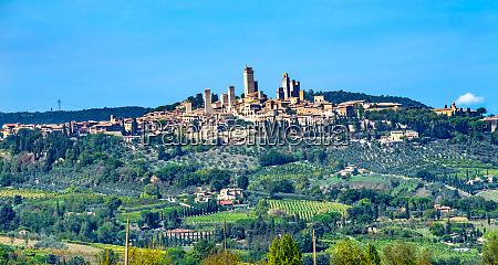 medieval town of san gimignano tuscany