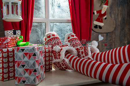 santa woman legs christmas holiday concept