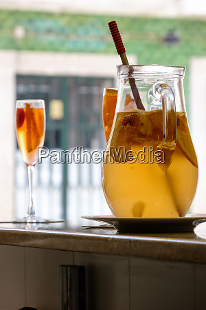 portugal lisbon white wine sangria drink