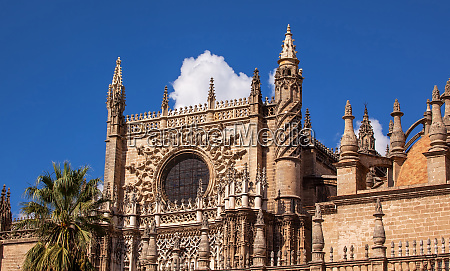 rose window seville cathedral seville andalusia