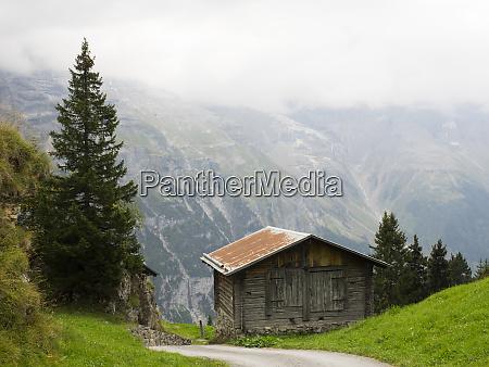 switzerland bern canton murren wood barn