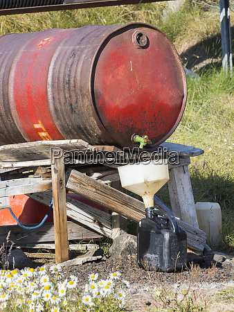 barrel for fuel small town of