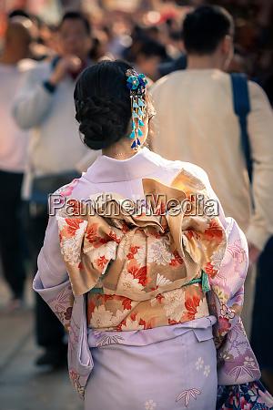 beautiful japanese girl in traditional kimono