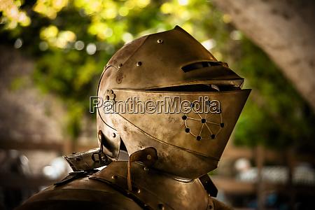 the helmet and shoulder piece of