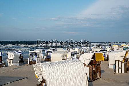 beach chairs at the beach of