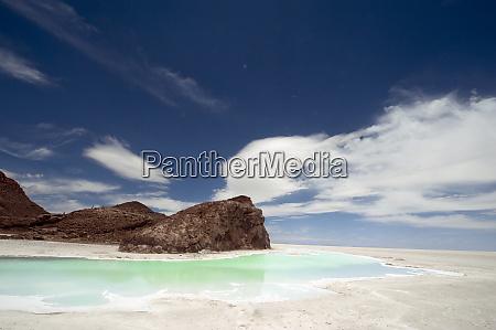 salar de uyuni bolivia small lagoon