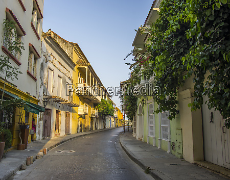 charming residential street in historic cartagena