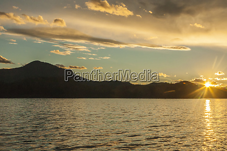 usa alaska tongass national forest sunset