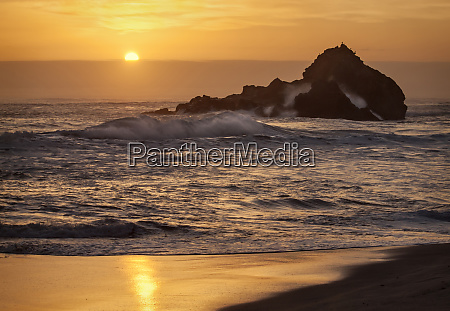 usa california big sur sunset and