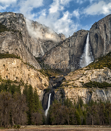 usa california yosemite national park upper