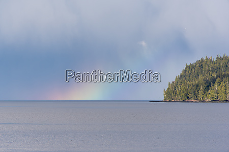 us alaska ketchikan rainbow glow on