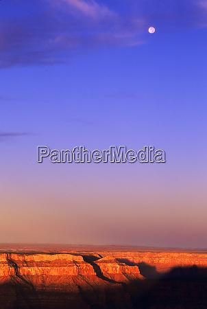 usa arizona grand canyon np moon