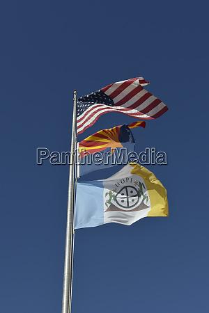 usa arizona hopi flag flying below