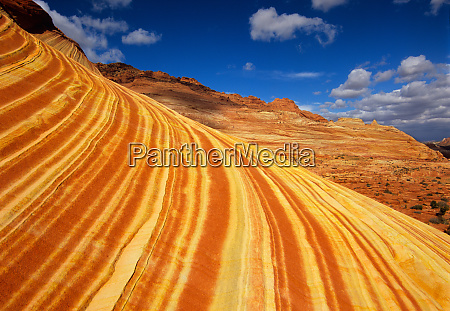 striated rock formations abound in the