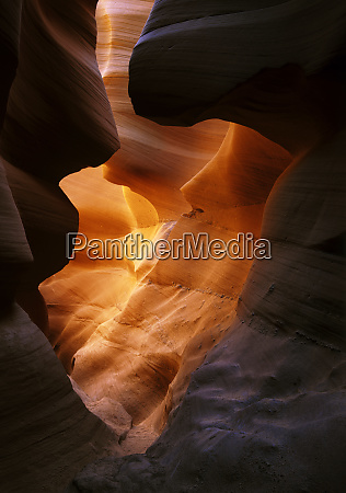 deep within a mysterious slot canyon