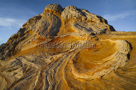 usa arizona sunset on a geological