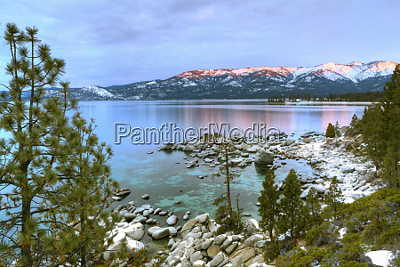 usa california lake tahoe lake overview