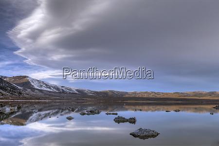 usa california mono lake lenticular cloud
