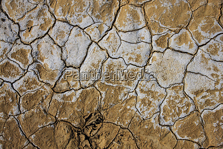 dried cracked earth on the flats