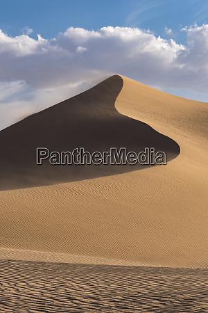 usa california windblown sand dune and