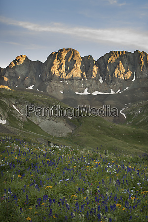 usa colorado san juan mountains spring