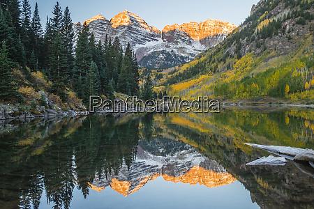 usa colorado maroon bells mountain lake