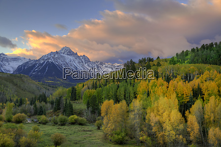 usa colorado san juan mountains sunrise