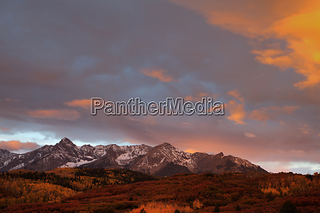 usa colorado san juan mountains sunset
