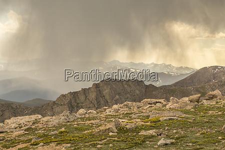 usa colorado mt evans mountain landscape