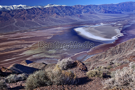 salt, badwater, basin, panamint, mountains, from - 27339484