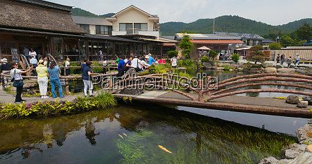 yamanashi japan 28 june 2019 oshino