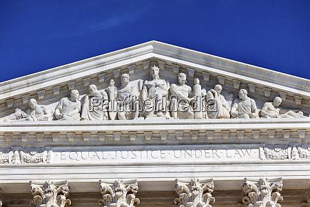 us supreme court statue capitol hill