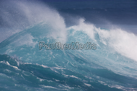 waves cresting along hookipa beach state