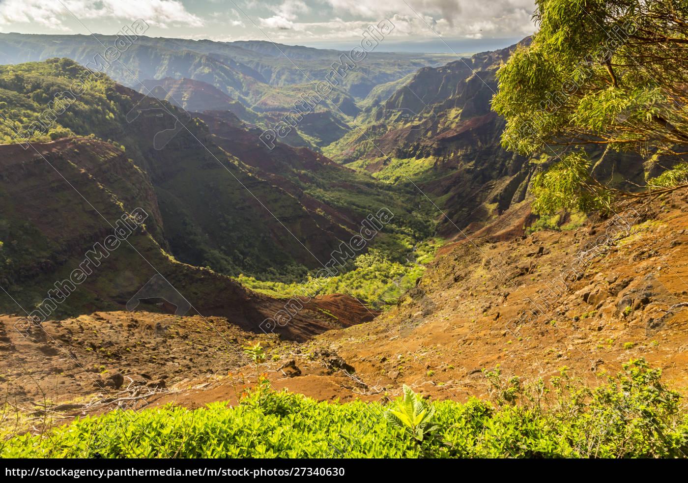 usa, , hawaii, , kauai., waimea, canyon, landscape. - 27340630