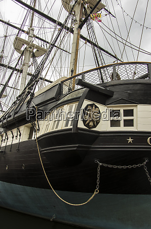 historic uss constellation rests at anchor