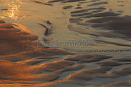 patterns in the sand at coast