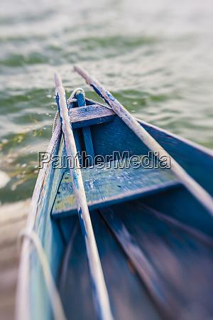 skiff on the dock in wellfleet